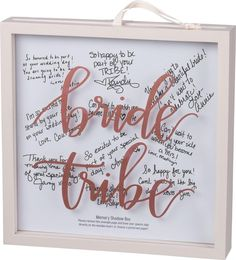 bachlorette party ideas The perfect wedding day keepsake, a glass window memory box with blush metallic hand lettered sentiment casting a shadow above a sliding wood insert for Bachlorette Party, Bachelorette Party Decorations, Bachelorette Weekend, Bachelorette Party Gifts, Hen Party Decorations, Fun Bachelorette Party Ideas, Bridal Parties, Memories Box, Before Wedding