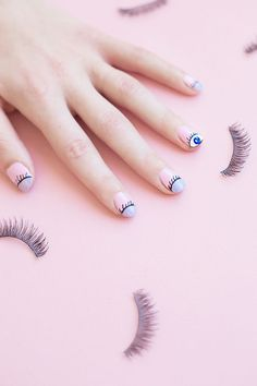 Try this cute DIY wink manicure.