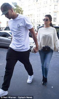 PFW: Kourtney Kardashian with Younes Bendjima at Haider Ackermann