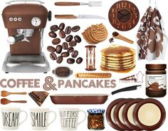 """Coffee and pancakes"" by olgutieuse on Polyvore"