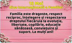 15 Mai - Ziua Internațională a Familiei - La mulți ani!