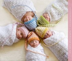 OMG this pic is amazing!  Note to self, if I ever have a photoshoot with quints, do this pose and make the parents buy these hats!  Newborn Munchkin Hat $28.00  -