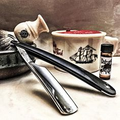 """4/17/16 - """"Blame it on my ADD""""!!! Last shave testing out this great soap. Time for it to set SAIL!! Performance was spot on for the straight. Bowl lathered without blooming and got a great lather.  I've actually only looked at getting vintage razors and trying them. But now there is a new addiction... Vintage Soap!!! Mainly OLD SPICE!! I will for sure be getting this soap soon!! Thanks to @jasper_the_cirneco for letting me try it out. A true Gentleman!!! Old Spice @wetshavingproducts Monarch…"""