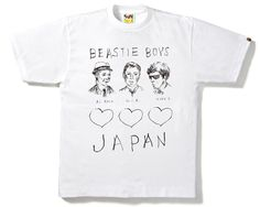 'A BATHING APE® x BEASTIE BOYS Charity T-shirts' Designed by Mike Mills