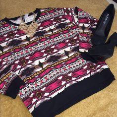 Sweatshirt Multi colored , loose, H&M Sweaters Crew & Scoop Necks