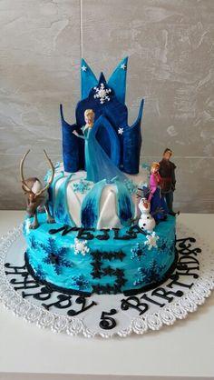Frozen cake Frozen Cake, Birthday Cake, Desserts, Food, Pies, Tailgate Desserts, Deserts, Birthday Cakes, Essen