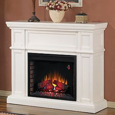 "Artesian 28"" White Electric Fireplace Cabinet Mantel Package - 28WM426-T401"