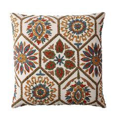 Multi Embroidered Pillow Cover-Suzani