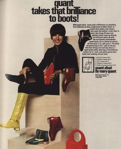 New vintage clothes mary quant ideas 60s And 70s Fashion, Fashion Mag, Mod Fashion, Vintage Fashion, Fashion Ideas, Fashion Shoes, Mary Quant, Shoe Advertising, Swinging London