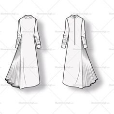 Women's Asymmetric Dress Fashion Flat Template – Templates for Fashion Flat Drawings, Flat Sketches, Dress Sketches, Fashion Design Jobs, Fashion Design Drawings, Fashion Illustration Sketches, Fashion Sketches, Fashion Flats, Women's Fashion Dresses