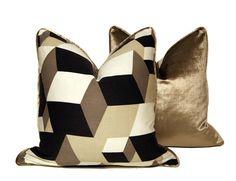 Dimensional Block Pillow. $52.50, via Etsy.