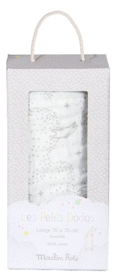 ddc7179ad32f Lange Blanc Les Petits Dodos - 70x70 cm. Doudouplanet · Moulin Roty ...