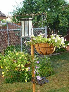 What a great idea, add a bird feeder
