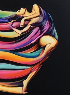 ORIGINAL ART Fantasy rainbow dancer nude female abstract oil painting G. Project Life Scrapbook, Dance Art, Portrait Art, Portrait Paintings, Female Art, Pop Art, Art Drawings, Art Projects, Original Art