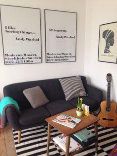 Min stue Stockholm Sweden, Couch, Pretty, Furniture, Home Decor, Settee, Decoration Home, Sofa, Room Decor