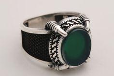 Le loup aigue-marine yeux .925 Sterling Silver Ring par Peter Stone bijoux