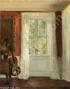 holsoe-carl-vilhelm-1863-1935-interior-med-en-cello-