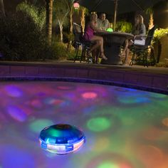 Underwater Pool Light Show.. pretty nifty for party-throwing.