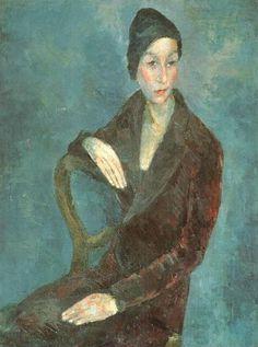 Portrait Of Naryshkina, Paris by Robert Falk