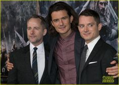 Orlando Bloom Reunites with 'Lord of the Rings' Co-stars Elijah Wood & Billy Boyd at Final 'Hobbit' Premiere of The Hobbit The Battle of the Five Armies at the Dolby Theater in Los Angeles (9-12-14) Tuesday