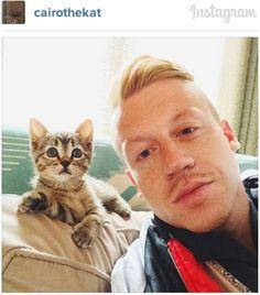 Macklemore & cat Cairo
