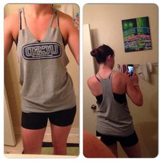 DIY Workout T-shirts : DIY no-sew workout tank