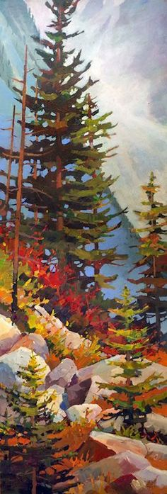 Trendy Ideas For Evergreen Tree Illustration Watercolor Painting Tree Of Life Artwork, Tree Art, Watercolor Trees, Watercolor Paintings, Watercolour, Acrylic Paintings, Landscape Art, Landscape Paintings, Tree Paintings