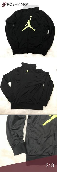 super popular 4cc50 65348 AIR JORDAN BOYS BLACK  amp  GREEN ZIP UP JACKET SIZE M Good condition boys  youth