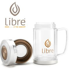 Libre Tea Glass Travel Mug for Loose Leaf Tea On-the-Go- 34% off