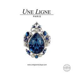 #Bague #Goutte Éternelle disponible sur http://www.uneligne-boutique.com/fr/collections/eternelle/bague-eternelle-353.html… #Bijoux #Argent #Swarovski
