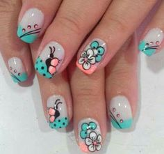 Nail Art Designs – Watch out Ladies Funky Nail Art, Crazy Nail Art, Cool Nail Art, Girls Nail Designs, Cool Nail Designs, Cute Nails, Pretty Nails, My Nails, French Nails