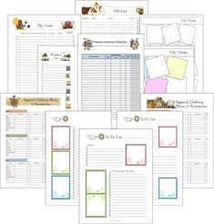 Budget Planner Printable Set  Sized Small  X  Pdf