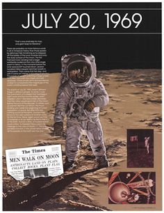 July 20, 1969 - Man walks on the moon
