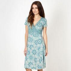 Rocha.John Rocha Designer dark turquoise lace patterned jersey dress- at Debenhams.ie