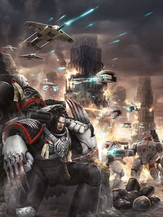 Captain Shrike pinned down by the Tau Warhammer 40k Art, Warhammer Models, Space Marine Codex, Dc Comics, Fire Warrior, Tau Empire, The Horus Heresy, The Grim, Sci Fi Fantasy