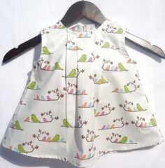 Baby Girl Dress Mamma bird and her chicks by LoopsyBaby on Etsy, $22.00