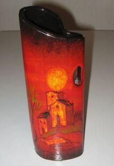 Verzolini Signed Hand Painted Vase Questa Maiolica Italian Pottery A Beauty!   eBay