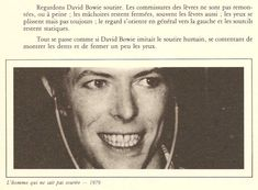 David Bowie Laughing Gnostic Anik Blaise Portrait ecriture voix gestes main astral visage