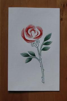 Wyszywanki matematyczne - aksjusza - Picasa Web Albums Embroidery Cards, Machine Embroidery, Sewing Cards, String Art Patterns, Needlepoint Patterns, Origami Paper, Stitch Design, Creative Cards, Anniversary Cards