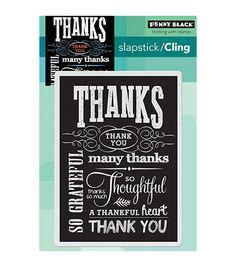 Penny Black Cling Stamp Chalkboard Grateful