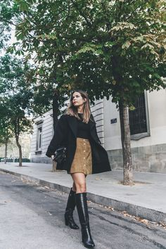 High_Boots-Suede_Skirt-Iro_Paris-Black_Jacket-Off_The_Shoulders_Sweater-Outfit-Street_Style-38