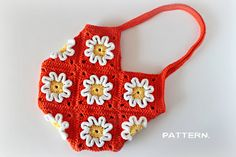 Crochet Pattern - Crochet 3D Flower Purse (Pattern No. 016)