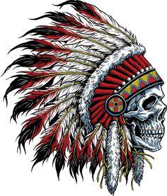 tattoos - Details about Indian Chief Skull Decal Sticker Car Truck Window Bumper Laptop Wall Body Art Tattoos, Tattoo Drawings, Sleeve Tattoos, Sketch Tattoo, Small Tattoos, Tatoos, Native American Tattoos, Native American Art, Native Tattoos