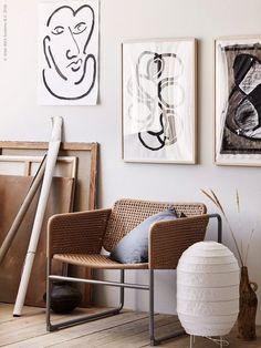 Armchair cannage Ikea Industrial - Maison - Décoration - Home - Interior - Decor Scandinavian, Scandinavian Interior Design, Diy Interior, Best Interior, Home Interior Design, Interior Styling, Interior Decorating, Scandinavian Furniture, Hall Interior