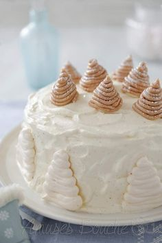 Gâteau Mont-Blanc - Meringue, mousse de marron aux brisures de marron, crème de marron et chantilly