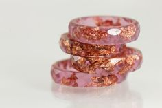Resin Ring Raspberry Plum Faceted Eco by SloaneJewelryDesign