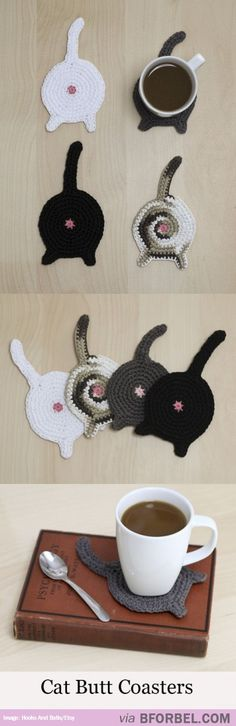 Cat+Butt+For+Your+Cup? i feel like i need to make these for my sister