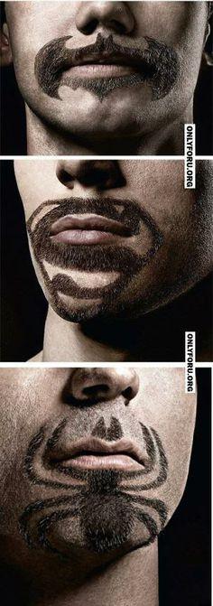 Superhero Facial Hair -
