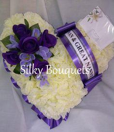 The 81 best funeral memorial flowers images on pinterest artificialsilkflowersheartgravememorialtributefuneral mightylinksfo