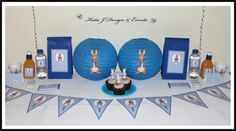 Paper Lanterns  #Peter #Rabbit #Baby #Cute #Shower #Blue #Boy #Shower #Birthday #Bunting #Elephant #Party #Decorations #Ideas #Banners #Bunting #Cupcakes #Wall #Display #PopTop #Juice #Labels #PartyBags #Invites #KatieJDesignAndEvents #Personalised #Creative